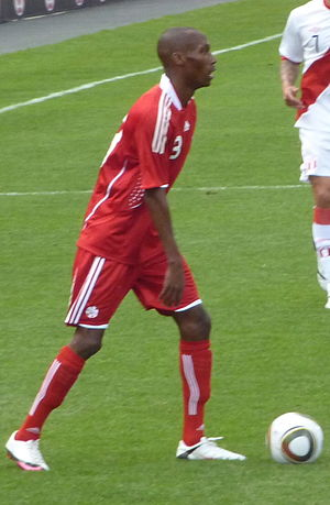 Atiba Hutchinson - Hutchinson playing against Peru  at BMO Field on September 4, 2010