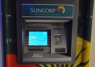 OS/2 - A crashed ATM in Australia running OS/2 Warp