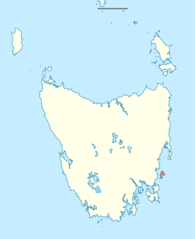 Location of Maria Island (shaded red) in Tasmania