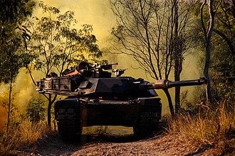 Exercise Talisman Saber - An Australian M1 Abrams tank during Exercise Talisman Sabre 2015