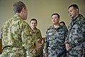 Australian Chief of Army Lt. Gen. David E. Morrison, left, speaks with Chinese People's Liberation Army senior officers with the Beijing Military Region during a luncheon for senior leaders at the 2012 120513-F-MQ656-248.jpg
