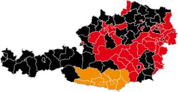 Aŭstra leĝdona elekto 2008 rezulto de distrikt.png