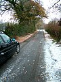 Autumnal lane with snow. - geograph.org.uk - 1057275.jpg
