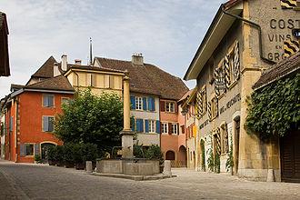 Auvernier - Main street in Auvernier