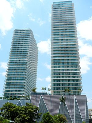Axis at Brickell Village - The Axis at Brickell Village Towers in May 2008
