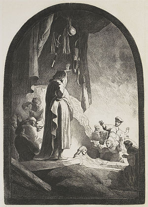 The Raising of Lazarus (Rembrandt) - Image: B073 Rembrandt