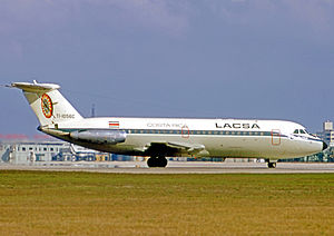 Avianca Costa Rica - LACSA BAC One-Eleven at Miami in 1971