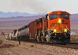 Southern Transcon - BNSF ES44DC No. 7520 leads on the Southern Transcon in the Mojave Desert, California