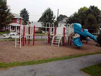 Hummelstown, Pennsylvania - The playground at Schaffner Park, the former Borough Park.