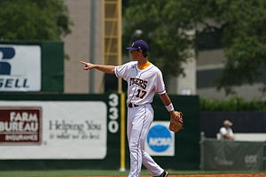 LSU Tigers baseball - Major League All-Star, batting champion and  Gold Glove winner, DJ LeMahieu, helped lead Mainieri's 2009 team to a National Championship.