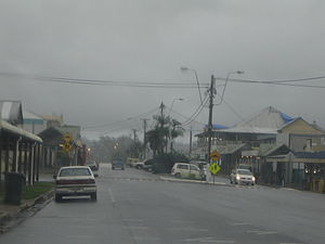 Babinda - Babinda on a typical rainy day