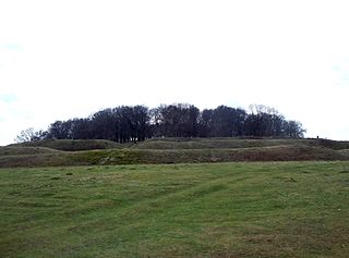 Iron Age hill fort in east Dorset, England