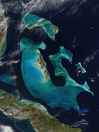 The Bahamas - The Bahamas from space. NASA Aqua satellite image, 2009