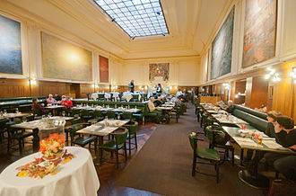 Basel SBB railway station - The remaining station restaurant.