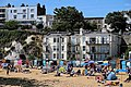 Balconies and beach huts at Broadstairs, Kent, England.jpg
