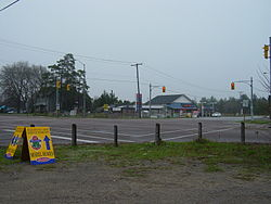 Intersection of Aurora Rd. and Highway 48 at Ballantrae.