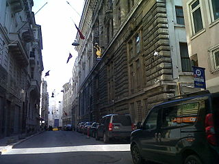 Bankalar Caddesi street