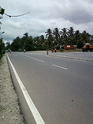 State Highway 87 (Karnataka) - The junction of Bannerghatta Road with NICE Road.