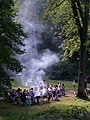 Barbecue at Wenchford picnic site - Forest of Dean - geograph.org.uk - 1026138.jpg