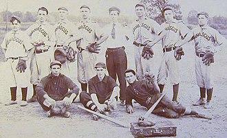 Baseball uniform - A nineteenth-century baseball team in uniforms