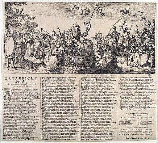 Bataefsche Spiegel - Allegorie op de vrede (Claes Jansz. Visscher, 1615)