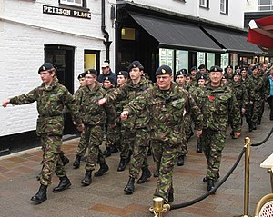 Combined Cadet Force - Army Cadets during the Battle of Jersey commemoration in 2013