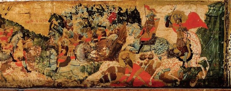Battle of Velbužd, detail from Visoki Dečani