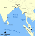 Location map of Bay of Bengal.