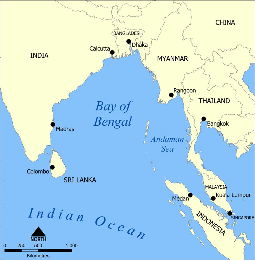 Bay of Bengal map