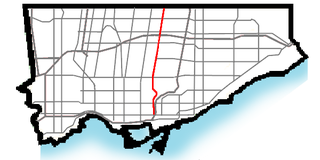 Bayview Avenue major north-south route in the Greater Toronto Area of Ontario