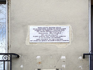 Boulevard Auguste-Blanqui - Image: Bd Blanqui 25 Plaque Blanqui