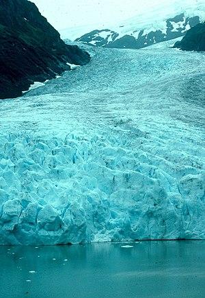 Bear Glacier Provincial Park - View looking up the glacier.
