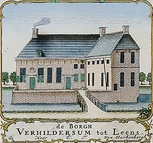 Verhildersum - Borg Verhildersum by Theodorus Beckeringh (1781)
