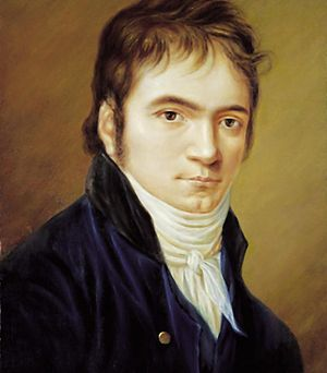 Portrait miniature - Christian Horneman's miniature portrait of Ludwig van Beethoven (1802)