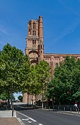 Bell tower of the Saint Cecilia Cathedral of Albi 03.jpg