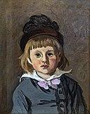 Bemberg Fondation Toulouse - Claude Monet - Portrait de son fils Jean en bonnet à pompon - 1869 42x33 Inv.2076.jpg