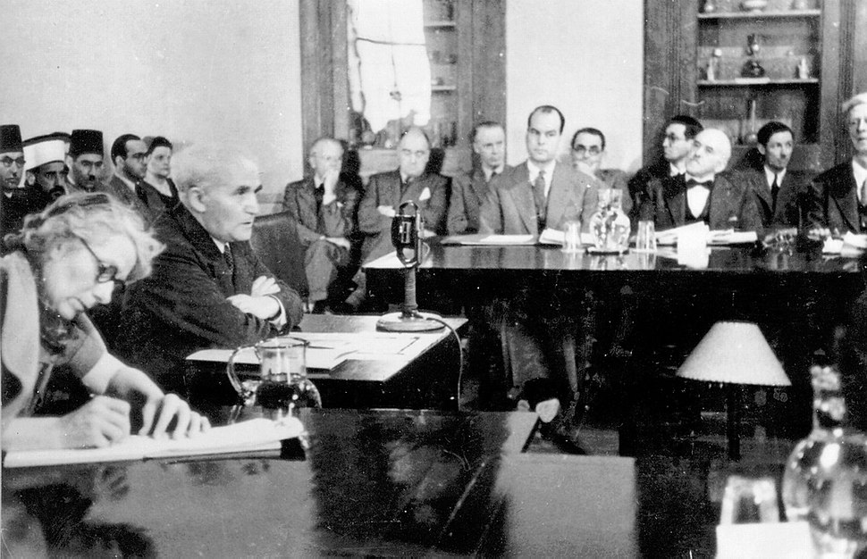 Ben-Gurion at Anglo-American Committee
