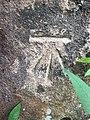 Benchmark at Ridge Road goods yard, Todmorden.jpg