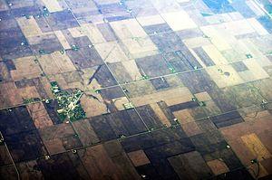 Benson, Illinois - Aerial view of Benson, 2012