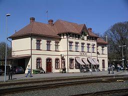 Berga jernbanestation i april 2009