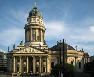 Neue Kirche, Berlin - The New Church on Gendarmenmarkt, seen from north.