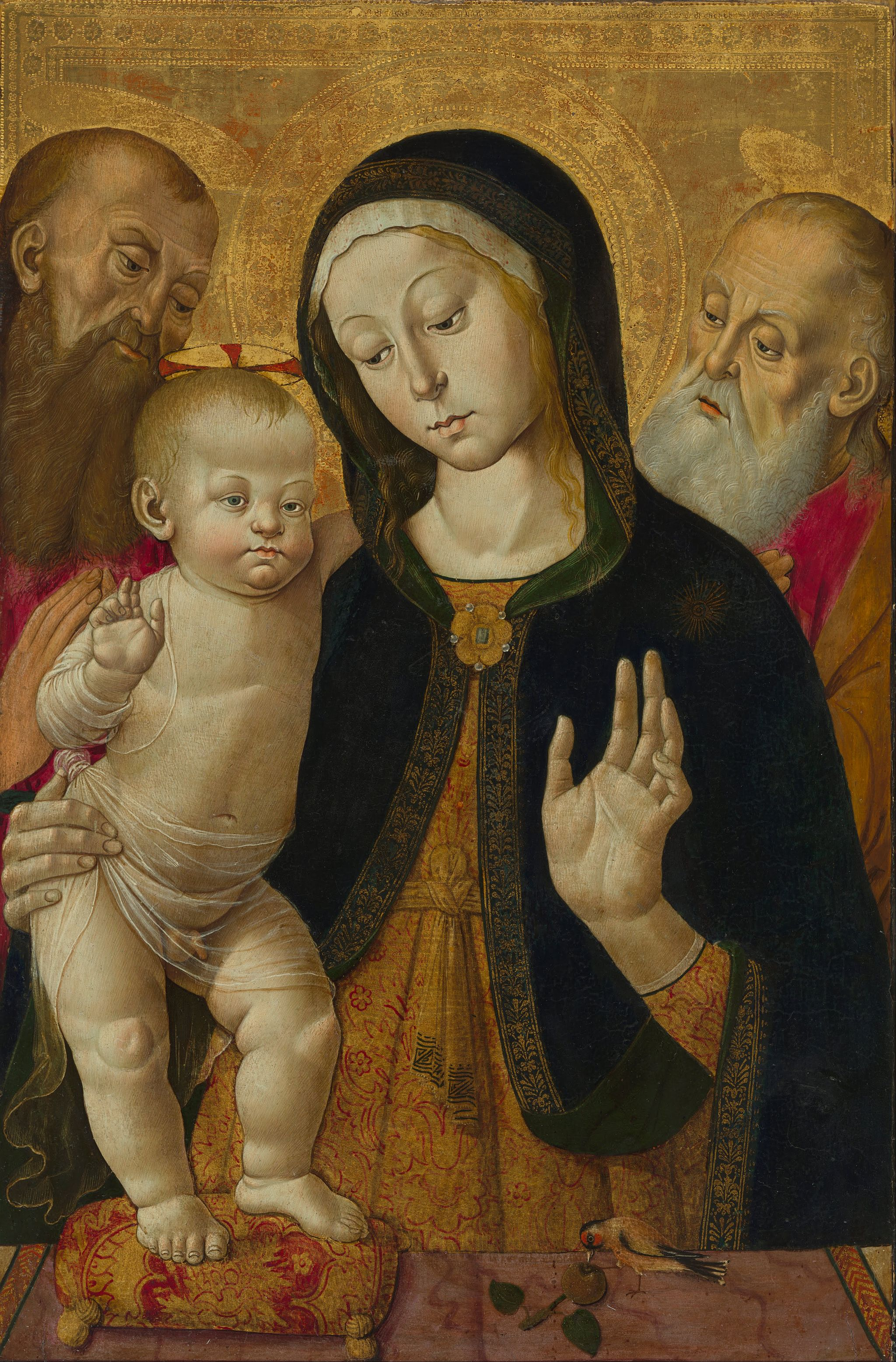 Bernardino Fungai (Italian (Sienese) - Madonna and Child with Two Hermit Saints - Google Art Project