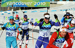 Biathlon - 15 km men's mass start at 2010 Winter Olympics.jpg