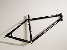 a steel hardtail mountain bike frame produced by rocky mountain bicycles