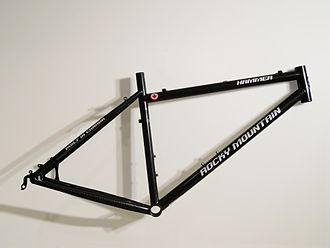 Bicycle frame - A steel hardtail mountain bike frame produced by Rocky Mountain Bicycles