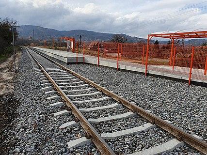"""a photo of railway station """"Bielawa Zachodnia"""" in Bielawa (Poland)"""