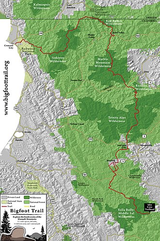 Bigfoot Trail - The Bigfoot Trail Route
