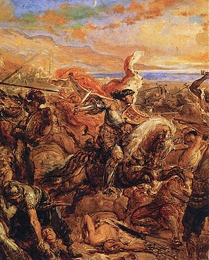 Battle of Varna - Władysław III of Poland leading the cavalry charge, by Jan Matejko