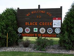 Black Creek Welcome Sign