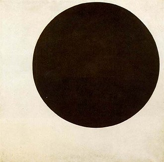 Suprematism - Kazimir Malevich, Black Circle, motive 1915, painted 1924, oil on canvas, 106.4 × 106.4 cm, State Russian Museum, St. Petersburg